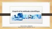 l esprit et la methode scientifique
