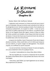 le royaume d oligon chapitre 9