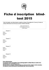 fiche d inscription blind test