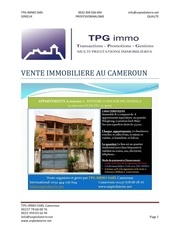 vente immo 6 appartements ndongbong zachman