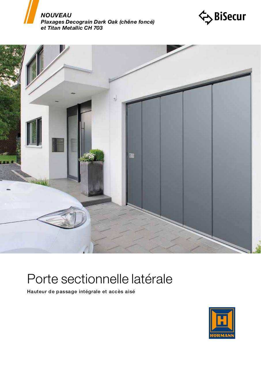 Porte de garage sectionnelle lat rale fichier pdf for Marque de porte de garage sectionnelle