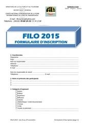 formulaire filo 2015