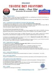 reglement course des poussins 2015