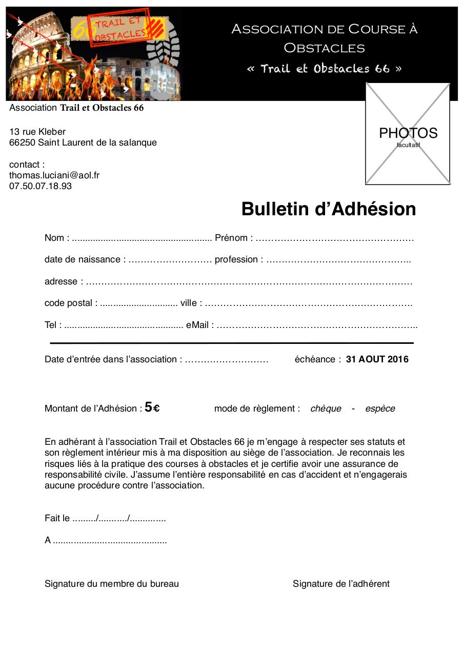 Bulletn d 39 adh sion carte adherant bulletn d 39 adh sion for Reglement interieur association pdf