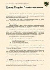guide du debutant en francais