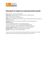 reglement concours espace design