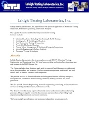 lehightesting com
