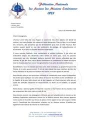 lettre suite aux attentats du 13 novembre a paris