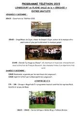 programme du telethon 2015 a longecourt en plaine 1