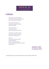 Fichier PDF j atteste