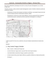Fichier PDF commandes echelle et aligner sur autocad