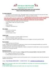 Fichier PDF detail du voyage crufts 2016