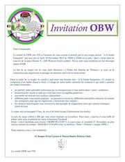 invitation souper obw