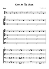 Fichier PDF carol of the bells partition comple te