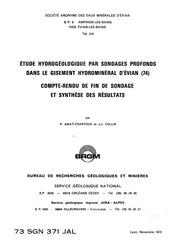situation hydrogeologique eaux minerales evian brgm sgn 1973