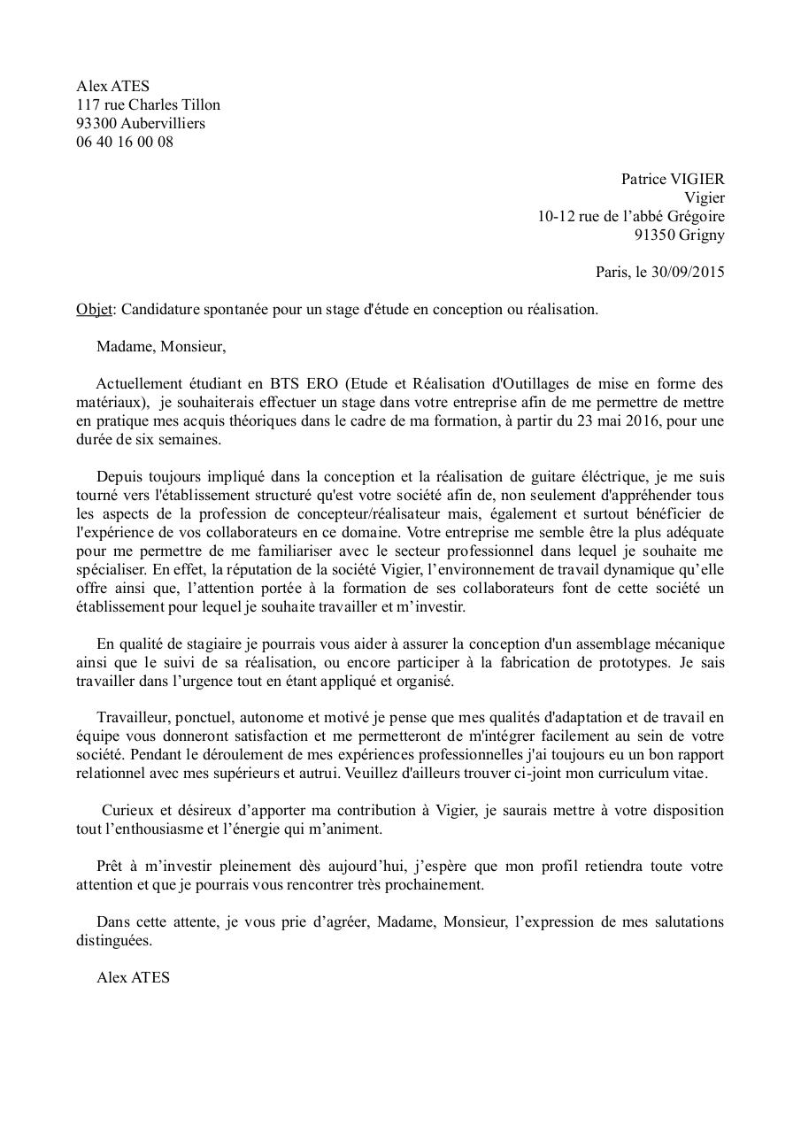 lettre de motivation  lettre de motivation pdf