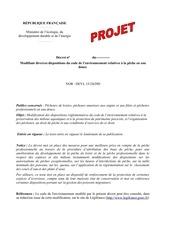 projet de decret 1