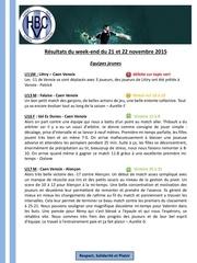 Fichier PDF resultats matches hbcv 21 22 novembre 2015
