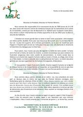 cp lettre ouverte suite aux evenements du 13 novembre 2015