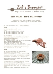 Fichier PDF user guide zab s sol bronze