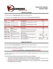 2015 examen automne