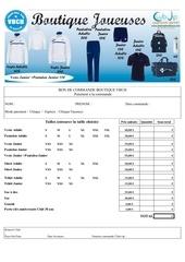 Fichier PDF formulaire commande boutique joueuses