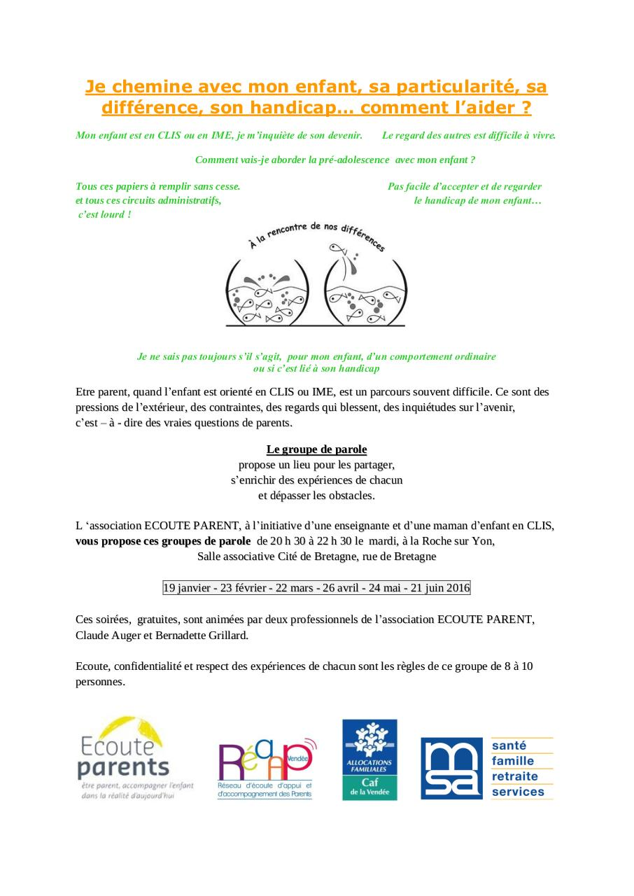 Aperçu du document proposition de flyer groupe de parole CLIS IME 2016-2.pdf - page 1/1