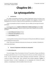 chapitre 04 cytosquelette