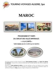 maroc ville imperiales 2015 2016