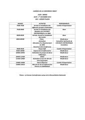 agenda de la conference debat