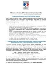 dispositions particulieres ordonnance 7 octobre 2015
