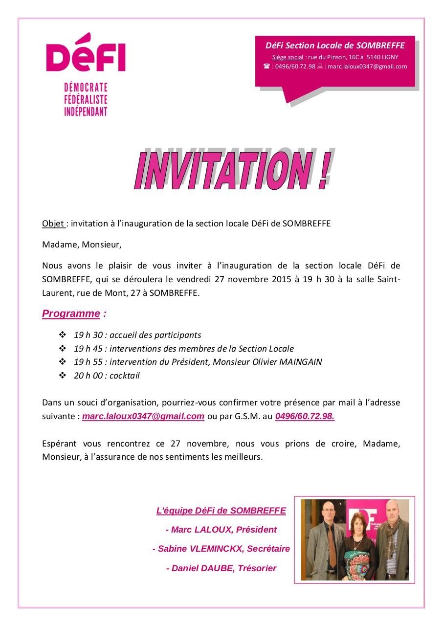 Aperçu du document Invitation DéFi SOMBREFFE.pdf - page 1/1