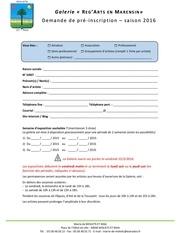 2016 demande de pre inscription 2