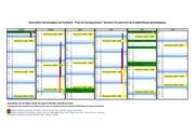 calendrier semestre 1 2016