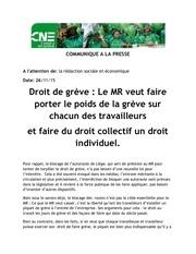 Fichier PDF communique droit de greve