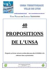 61 unsa vdl 40 propositions