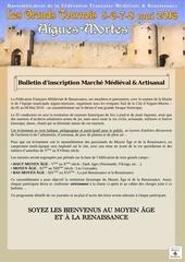 dossier marche medieval aigues mortes 2016