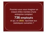 entreprise de 736 salaries vs parlement