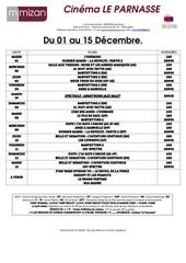 prog du 01 au 15 decembre