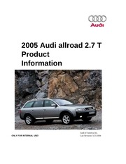 2005 audi allroad 2 7t product information