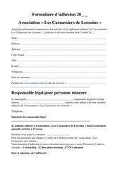 Fichier PDF formulaire adhesion 20