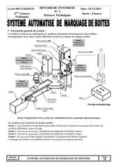 dossier technique ds1 systeme automatise de marquage de boites