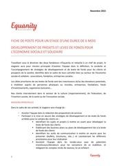 fiche de poste equanity stage novembre 2015