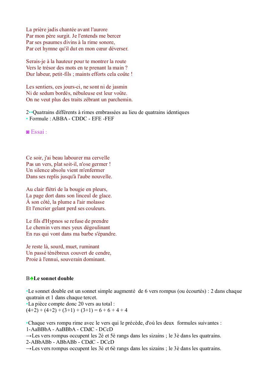 Le Sonnet Espagnol Fichier Pdf