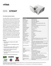 Fichier PDF vivitek d795wt datasheet en