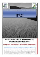 catalogue des formations 2016 itaci