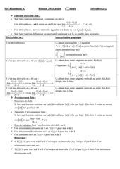 resume derivabilite