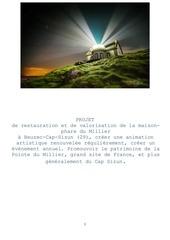 trame de projet pour la maison phare du millet 1