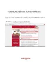 Fichier PDF tuto auto entrepreneur