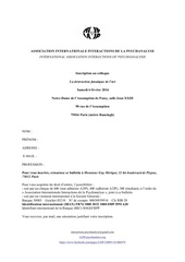 bulletin inscription colloque 6 fe vrier